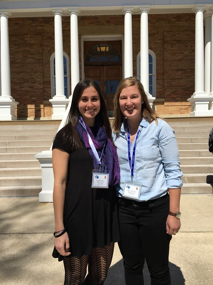 K Psychology students Christina Dandar (K '18) and Mackenzie Norman (K '17) who presented research at the annual Michigan Undergraduate Psychology Research Conference held Saturday, April 8, 2017 at Hillsdale College.