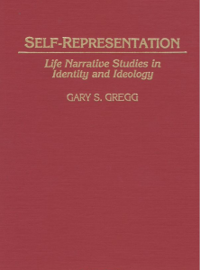Book Cover of Self Representaion by Gary S. Gregg